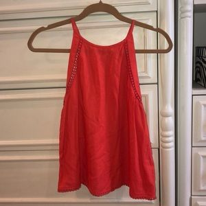 Halter red/orange Top
